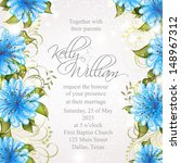 wedding invitation or card with ... | Shutterstock .eps vector #148967312
