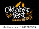 oktoberfest handwritten... | Shutterstock .eps vector #1489708565