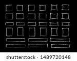 chalk marker square frame set... | Shutterstock .eps vector #1489720148