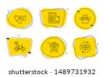 packing boxes  360 degree and... | Shutterstock .eps vector #1489731932