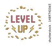 kawaii video games themed t... | Shutterstock .eps vector #1489740365