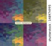 geometric patterns set.... | Shutterstock .eps vector #148974995
