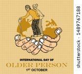 international day of older...   Shutterstock .eps vector #1489767188
