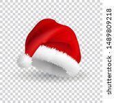 santa claus hat isolated on... | Shutterstock .eps vector #1489809218