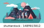 family camping vector... | Shutterstock .eps vector #1489815812