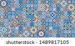gorgeous seamless pattern white ... | Shutterstock .eps vector #1489817105