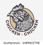 chicken head in hand drawn...   Shutterstock .eps vector #1489822748