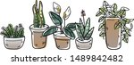 illustration set of difference... | Shutterstock .eps vector #1489842482