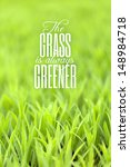 Green Grass With Typography...