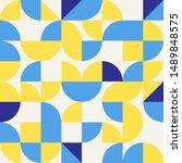 abstract modern geometric... | Shutterstock . vector #1489848575