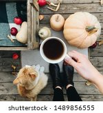 Pumpkin  Tea And Autumn Leaves...