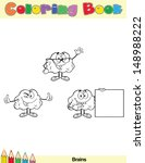 coloring book page brain... | Shutterstock .eps vector #148988222