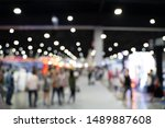 blurred images of trade fairs...   Shutterstock . vector #1489887608