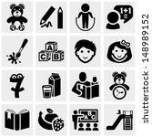 preschool vector icons set on... | Shutterstock .eps vector #148989152