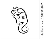 ganesha the lord of wisdom... | Shutterstock .eps vector #1489925822