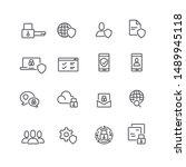 business data protection... | Shutterstock .eps vector #1489945118