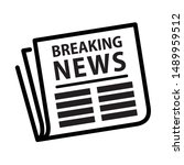 breaking news  newspaper icon ...   Shutterstock .eps vector #1489959512