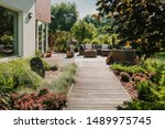 Wooden Path To Terrace In The...