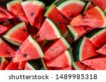 Red Watermelon Heap Of...