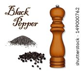 pepper mill spice grinder ... | Shutterstock .eps vector #149000762