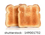 toasted bread on white... | Shutterstock . vector #149001752