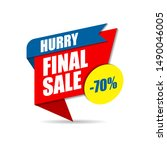 hurry final sale banner  up to... | Shutterstock .eps vector #1490046005