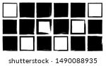 set of vector squares with... | Shutterstock .eps vector #1490088935
