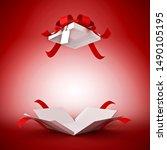 Illustration 3d Open Gift Box...