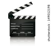 clapper board isolated on white ... | Shutterstock .eps vector #149012198