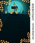 halloween background  vertical... | Shutterstock .eps vector #1490148308