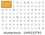 90 line food icons set...   Shutterstock .eps vector #1490153792