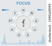 focus infographic with icons.... | Shutterstock .eps vector #1490169095