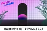aesthetic future classic space... | Shutterstock .eps vector #1490215925