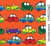 seamless multicolor cars... | Shutterstock . vector #149022362