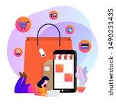 illustrations concept design... | Shutterstock .eps vector #1490231435