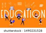 vector illustration with... | Shutterstock .eps vector #1490231528