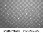 snowflakes  snow background.... | Shutterstock .eps vector #1490239622