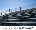 Empty sports stadium metal...