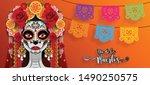 day of the dead  dia de los... | Shutterstock .eps vector #1490250575