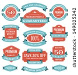 vector vintage sale labels and... | Shutterstock .eps vector #149025242