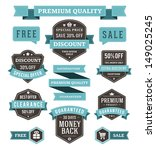 vector vintage sale labels and... | Shutterstock .eps vector #149025245