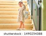 happy kid back to school....   Shutterstock . vector #1490254388