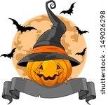 halloween design with pumpkin... | Shutterstock .eps vector #149026298