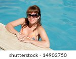 pretty girl smiling and... | Shutterstock . vector #14902750