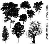 tree silhouette vector | Shutterstock .eps vector #149027888