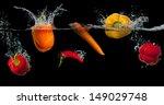Fresh Vegetables Splashing In...
