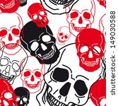 vector pattern with skulls... | Shutterstock .eps vector #149030588