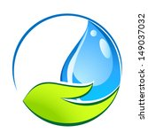 water drop in hand   eco sign | Shutterstock .eps vector #149037032