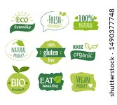 organic food and healthy...   Shutterstock .eps vector #1490377748