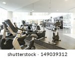 an interior shot of a club gym... | Shutterstock . vector #149039312